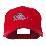 USA State Flower New Hampshire Lilac Embroidered Cap - Red