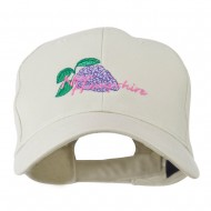 USA State Flower New Hampshire Lilac Embroidered Cap - Stone