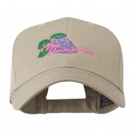 USA State Flower New Hampshire Lilac Embroidered Cap - Khaki