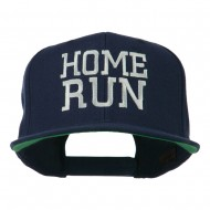 Home Run Embroidered Cap - Navy