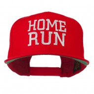 Home Run Embroidered Cap - Red