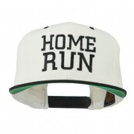 Home Run Embroidered Cap - Natural Black