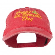 Happy St. Patrick's Day Embroidered Cap - Red
