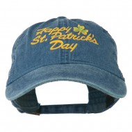 Happy St. Patrick's Day Embroidered Cap - Navy