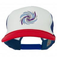 Hurricane Embroidered Foam Mesh Back Cap - Red White Royal