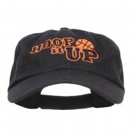 Hoop It Up Basketball Embroidered Low Cap - Black