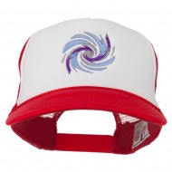 Hurricane Embroidered Foam Mesh Back Cap - Red White Red