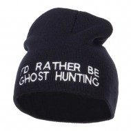 I'd Rather Be Ghost Hunting Short Beanie - Navy