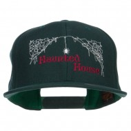 Haunted House Embroidered Snapback Cap - Spruce
