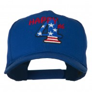 Happy 4th Embroidered Cap - Royal