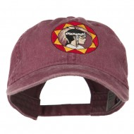 Indian Boy Embroidered Washed Cap - Maroon