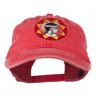 Indian Boy Embroidered Washed Cap - Red
