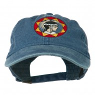Indian Boy Embroidered Washed Cap - Navy