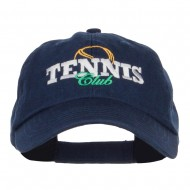 Tennis Club Embroidered Pet Spun Cap - Navy