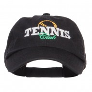 Tennis Club Embroidered Pet Spun Cap - Black