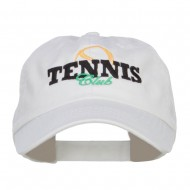 Tennis Club Embroidered Pet Spun Cap - White