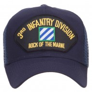 3rd Infantry Division Patched Mesh Cap - Navy