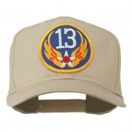 13th Air Force Division Patched Cap - Khaki