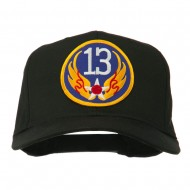 13th Air Force Division Patched Cap - Black