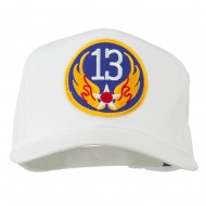 13th Air Force Division Patched Cap - White