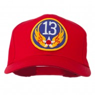 13th Air Force Division Patched Cap - Red