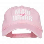 Maid of Honor Embroidered Washed Cap - Pink