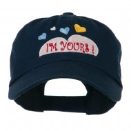 I am Yours Heart Embroidered Cap - Navy