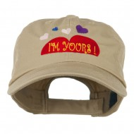 I am Yours Heart Embroidered Cap - Khaki