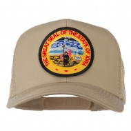 Iowa State Patched Mesh Cap - Khaki