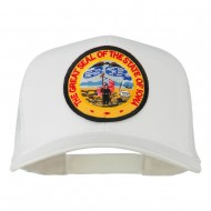 Iowa State Patched Mesh Cap - White