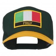 Italy Europe Flag Patched Two Tone High Cap - Gold Green