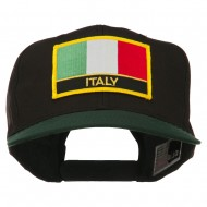 Italy Europe Flag Patched Two Tone High Cap - Green Black