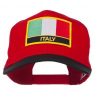 Italy Europe Flag Patched Two Tone High Cap - Black Red