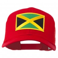 Jamaica Flag Patched Mesh Cap - Red