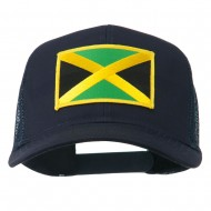Jamaica Flag Patched Mesh Cap - Navy