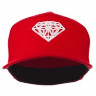 Diamond Jewelry Logo Embroidered Fitted 210 Youth Cap - Red