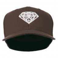 Diamond Jewelry Logo Embroidered Fitted 210 Youth Cap - Brown