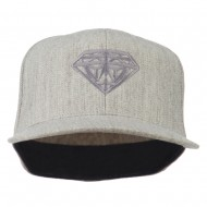 Diamond Jewelry Logo Embroidered Fitted 210 Youth Cap - Heather