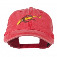 Fishing Floating Jig Embroidered Washed Cap - Red