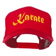 Karate Embroidered Mesh Trucker Cap - Red