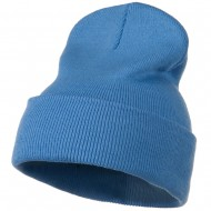 12 Inch Long Knitted Beanie - Sky Blue