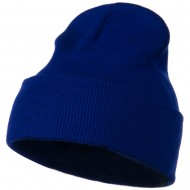 12 Inch Long Knitted Beanie - Royal