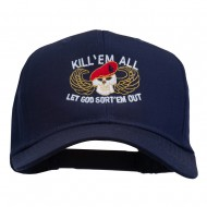 Kill Them All Embroidered Cap - Navy