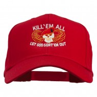 Kill Them All Embroidered Cap - Red