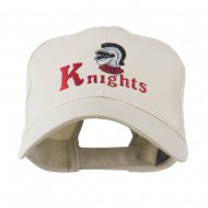 Knights Text and Mascot Embroidered Cap - Stone
