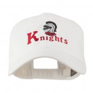 Knights Text and Mascot Embroidered Cap - White