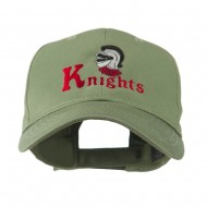 Knights Text and Mascot Embroidered Cap - Olive