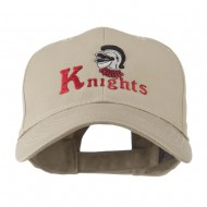 Knights Text and Mascot Embroidered Cap - Khaki