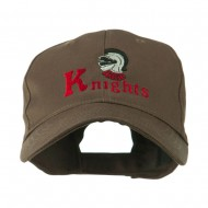 Knights Text and Mascot Embroidered Cap - Brown