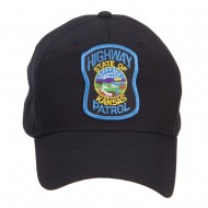 Kansas State Highway Patrol Patched Cap - Black